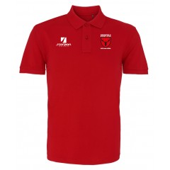 Dronfield Cotton Polo Shirt - Red