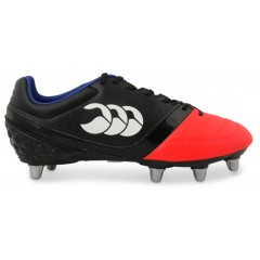 Canterbury Phoenix Club Rugby Boots - Black/Firecracker Red